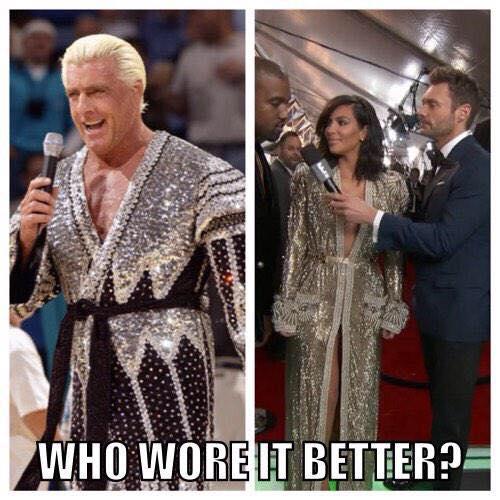 Ric Flair and Kim Kardashian