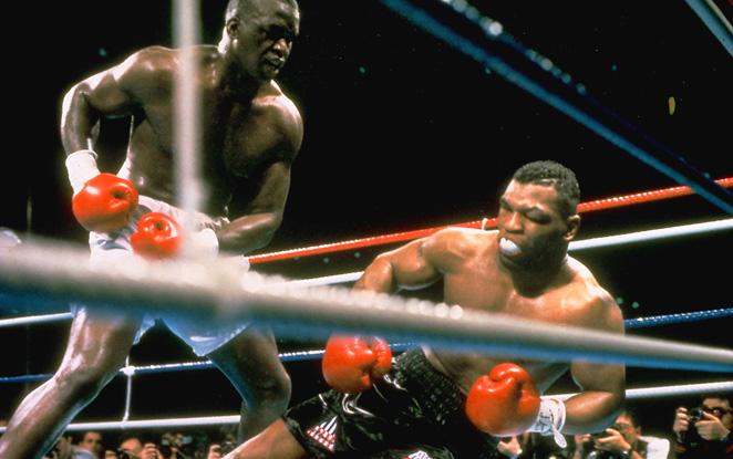 Buster Douglas knocks out Mike Tyson