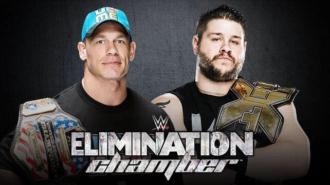 Kevin Owens faces John Cena at Elimination Chamber