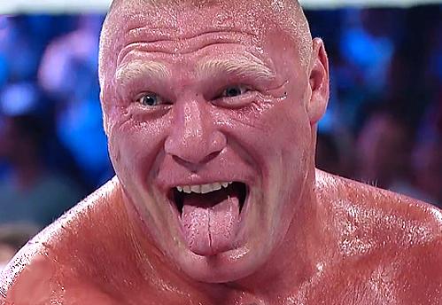 Brock Lesnar laughing