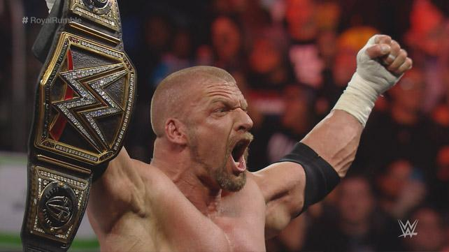 Triple H wins the Royal Rumble
