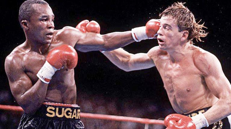 Sugar Ray beats the golden boy