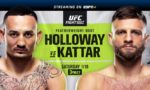 Guide to UFC on ABC 1: Holloway vs. Kattar